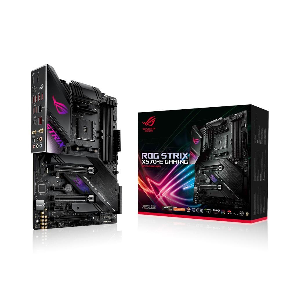 ASUS ROG Strix X570-E Gaming - AMD - Socket AM4 - AMD Ryzen - DDR4-SDRAM - DIMM - 128 GB