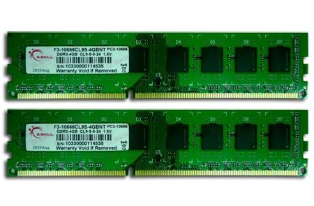 G.Skill NT Series - DDR3 - kit - 8 GB: 2 x 4 GB