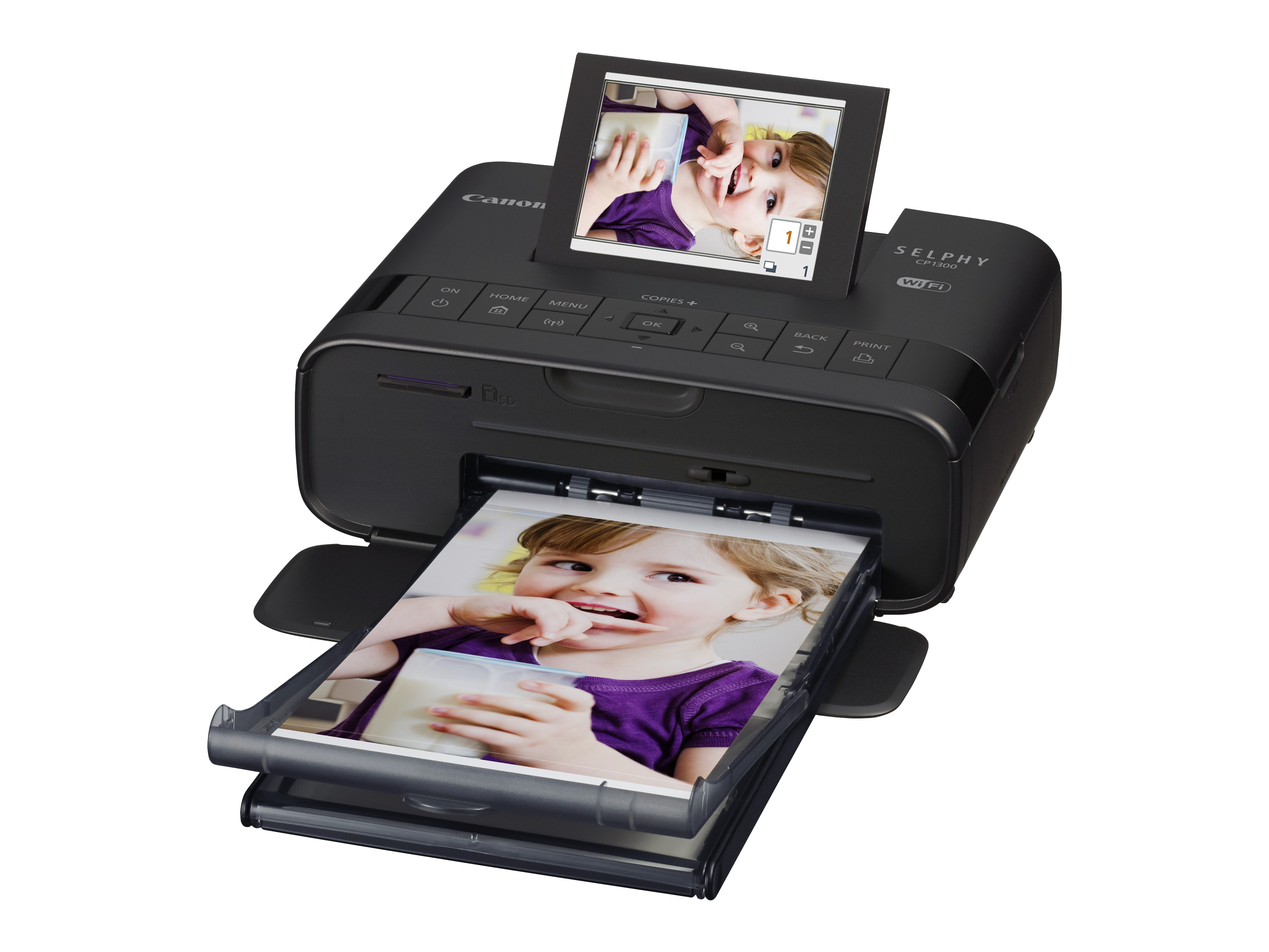 Canon SELPHY CP1300 - SD,SDHC,SDXC - Android,iOS - Wechselstrom/Batterie - 60 W - 4 W - 180,6 mm