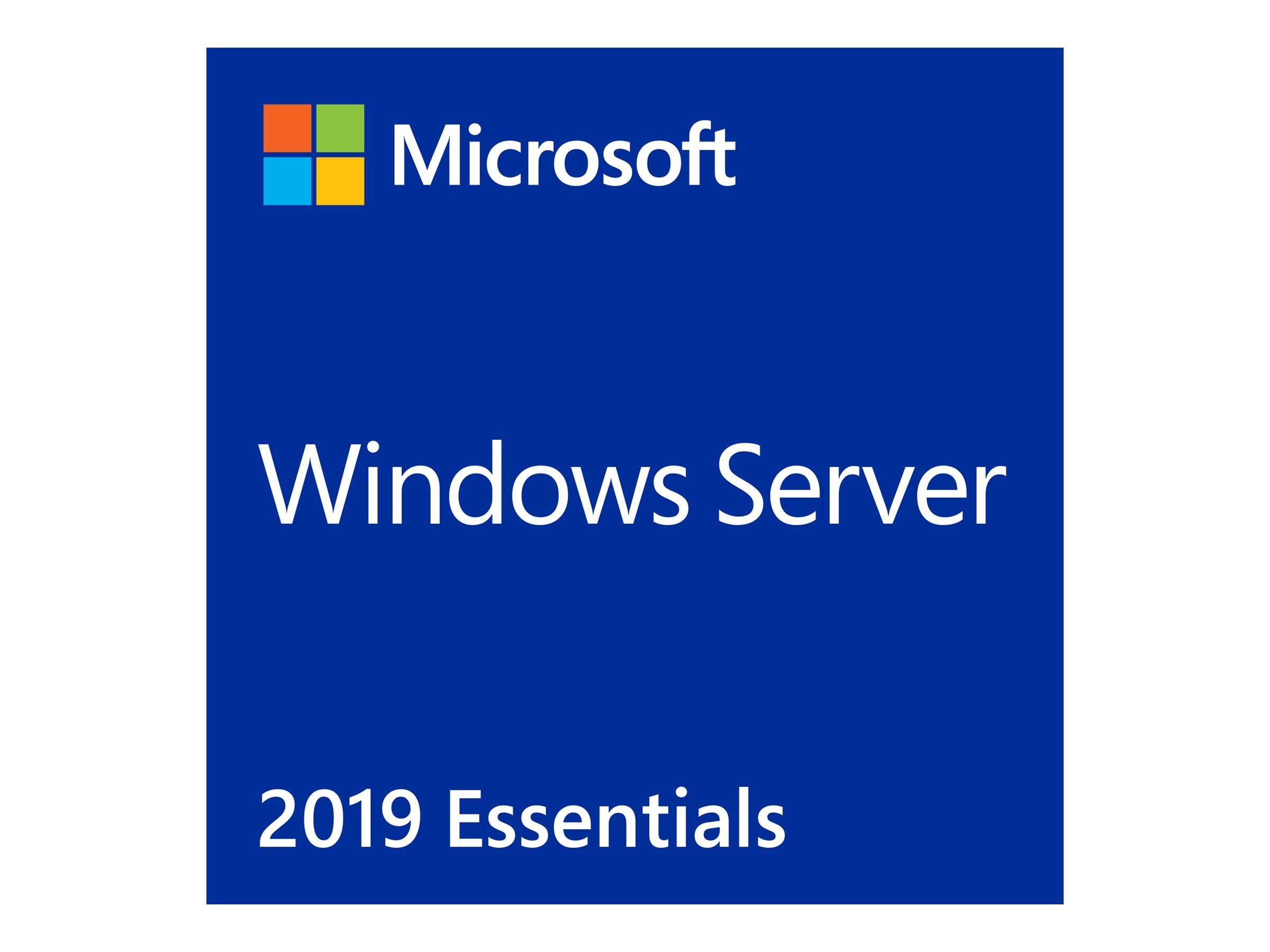 Microsoft Windows Server 2019 Essentials - Lizenz - 1 Server (1-2 CPUs)