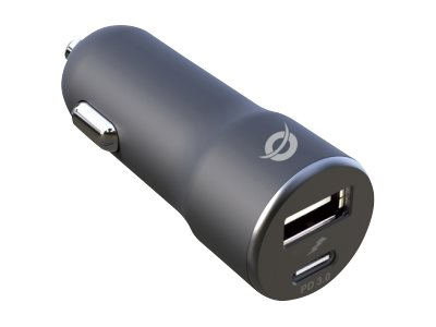 Conceptronic ALTHEA 2-Port 36W USB PD Car Charger - Auto-Netzteil - 36 Watt - 2 Ausgabeanschlussstellen (USB, USB-C)