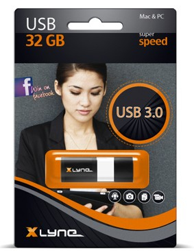 Xlyne Wave - USB-Flash-Laufwerk - 32 GB - USB 3.0