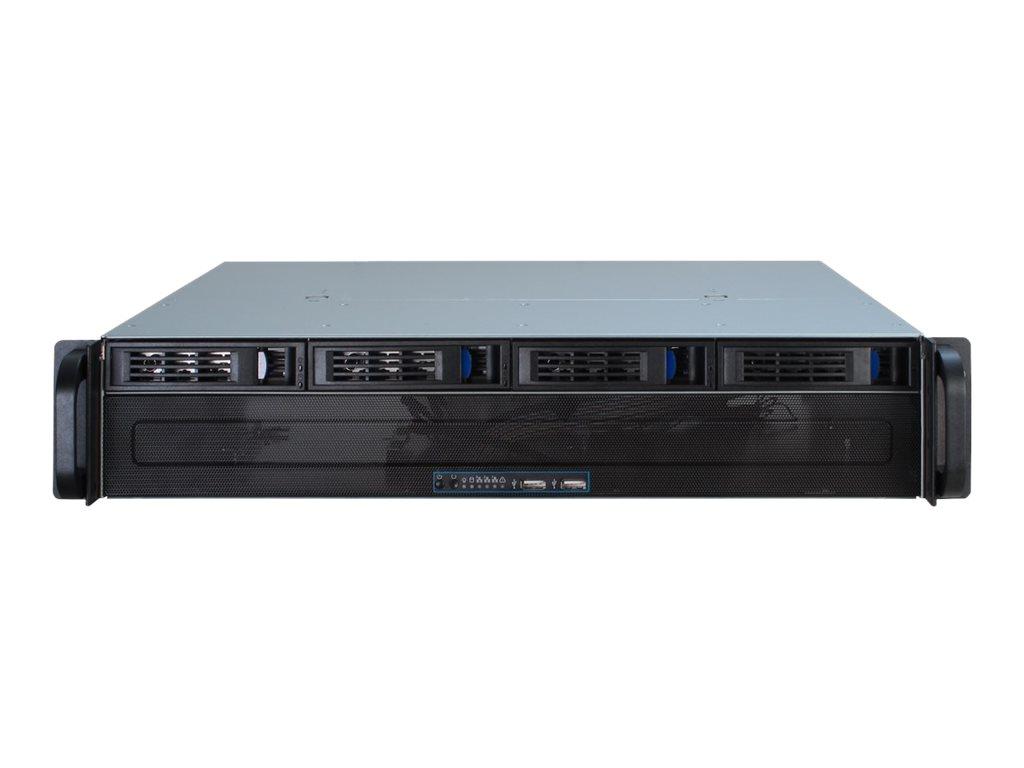 Inter-Tech IPC 2U-2404S - Rack-Montage - 2U - micro ATX - SATA/SAS - Hot-Swap - ohne Netzteil (ATX)