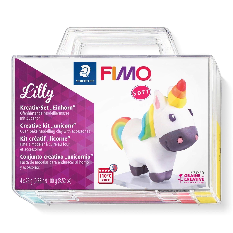 Vorschau: STAEDTLER FIMO Lilly - Knetmasse - Blau - Rot - Weiß - Gelb - 4 Stück(e) - 4 Farben - 110 °C - 30 min