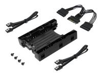 MB290SP-1B Speicherlaufwerksgehäuse 2.5 Zoll HDD / SSD-Gehäuse Schwarz