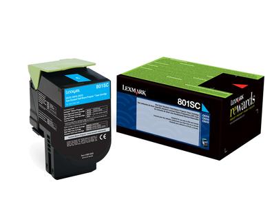 Lexmark 802SC Laser cartridge 2000Seiten Cyan