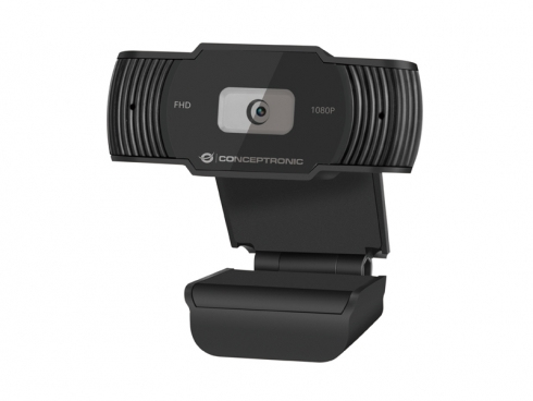Conceptronic AMDIS 1080P Full HD Webcam with Microphone - 1920 x 1080 Pixel - 30 fps - 65? - 65? - 5 V - USB 2.0