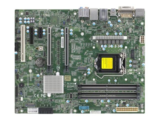 Supermicro X12SAE - Motherboard - ATX - LGA1200-Sockel - W480 - USB-C Gen2, USB 3.2 Gen 1, USB 3.2 Gen 2 - Gigabit LAN, 2.5 Gigabit LAN - Onboard-Grafik (CPU erforderlich)