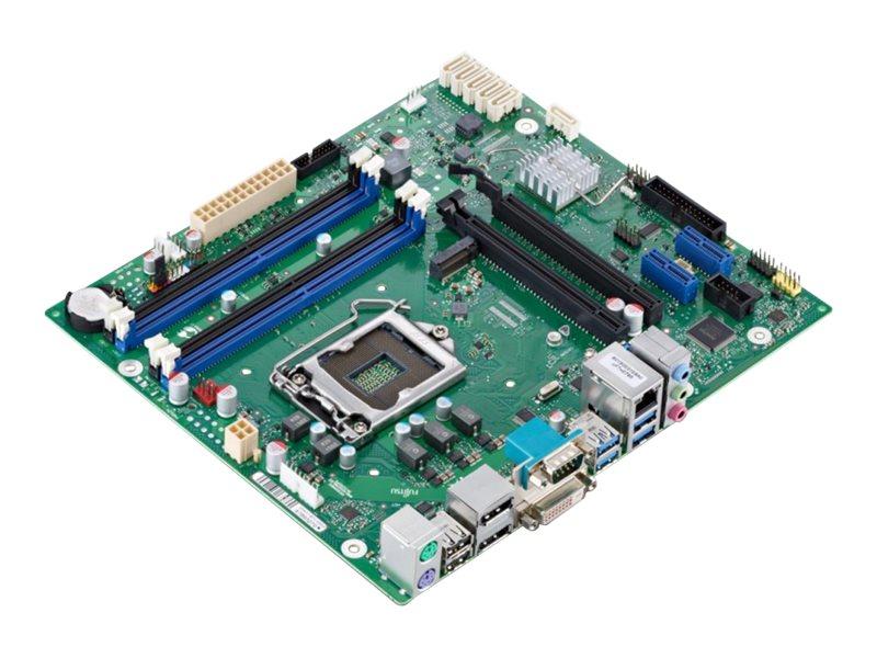 Fujitsu D3417-B2 - Motherboard - micro ATX - LGA1151 Socket - C236 - USB 3.0 - Gigabit LAN - Onboard-Grafik (CPU erforderlich)