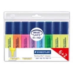 STAEDTLER Textsurfer 364 A WP8 - 8 Stück(e) - Blau - Grün - Orange - Violett - Violett - Gelb - Meißel - Mehrfarben - Multi - Polypropylen (PP)