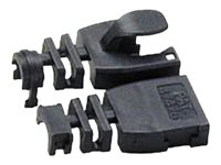 Lindy Post-assembly RJ-45 Male Strain Relief Boot - Netzwerk-Cable-Boots - Schwarz (Packung mit 10)