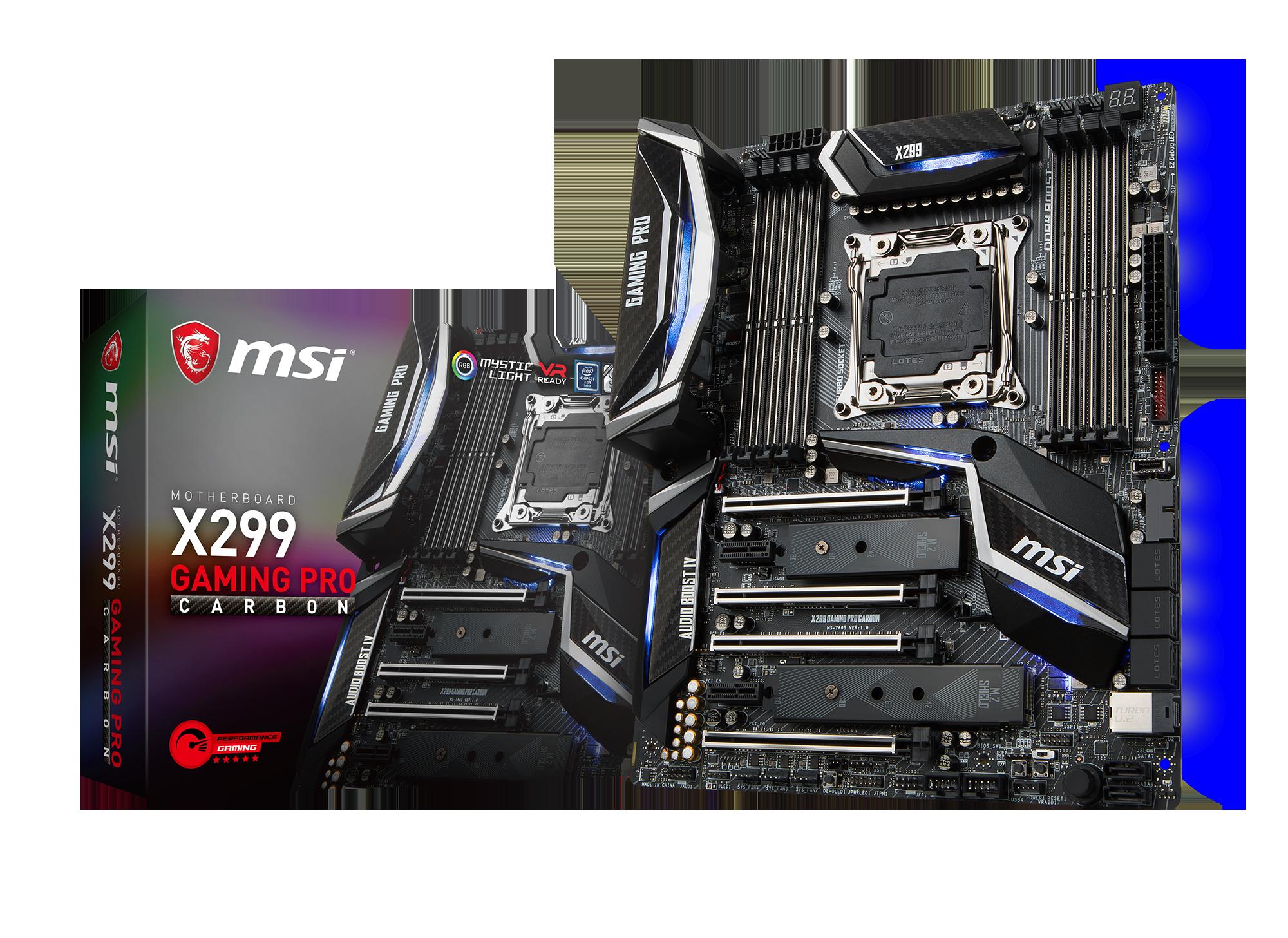 MSI X299 GAMING PRO CARBON - Mainboard - ATX