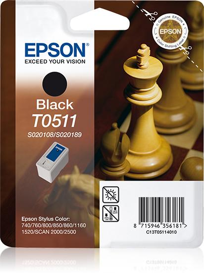 Epson-C13T05114020-Chess-Singlepack-Black-T0511-Original-Pigment-based-ink thumbnail 2