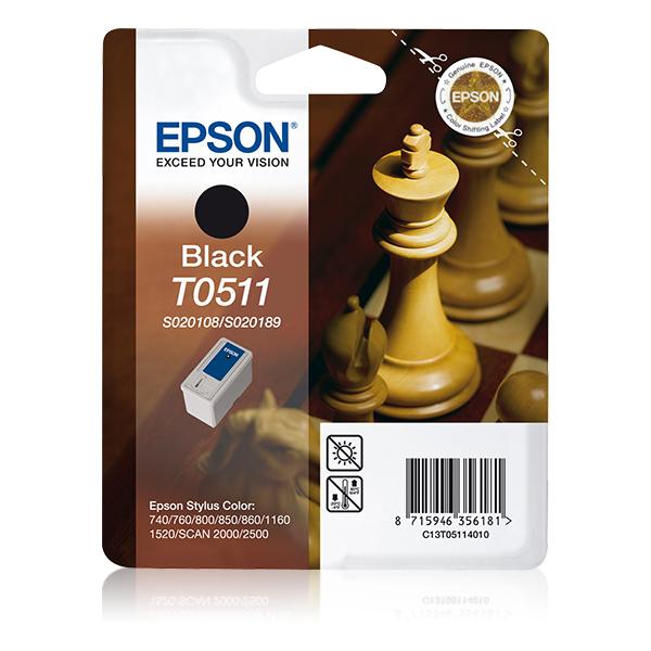 Epson-C13T05114020-Chess-Singlepack-Black-T0511-Original-Pigment-based-ink