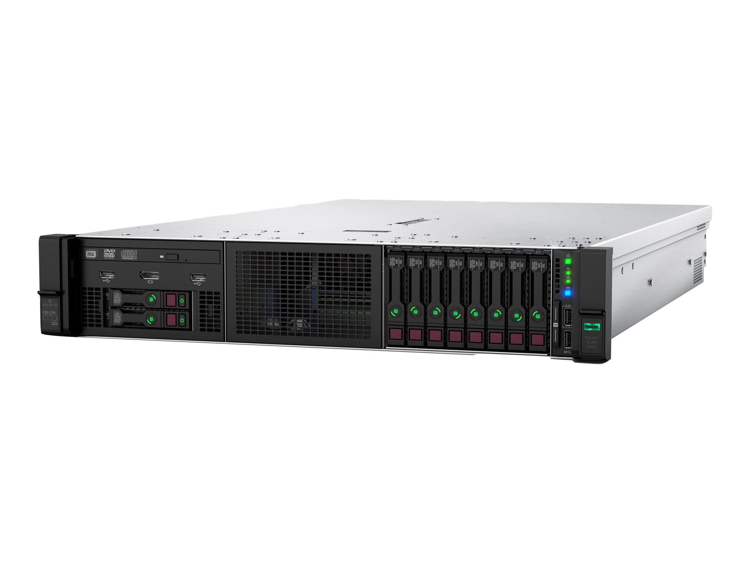 "HPE ProLiant DL380 Gen10 Network Choice - Server - Rack-Montage - 2U - zweiweg - 1 x Xeon Silver 4215R / 3.2 GHz - RAM 32 GB - SATA/SAS - Hot-Swap 6.4 cm (2.5"")"
