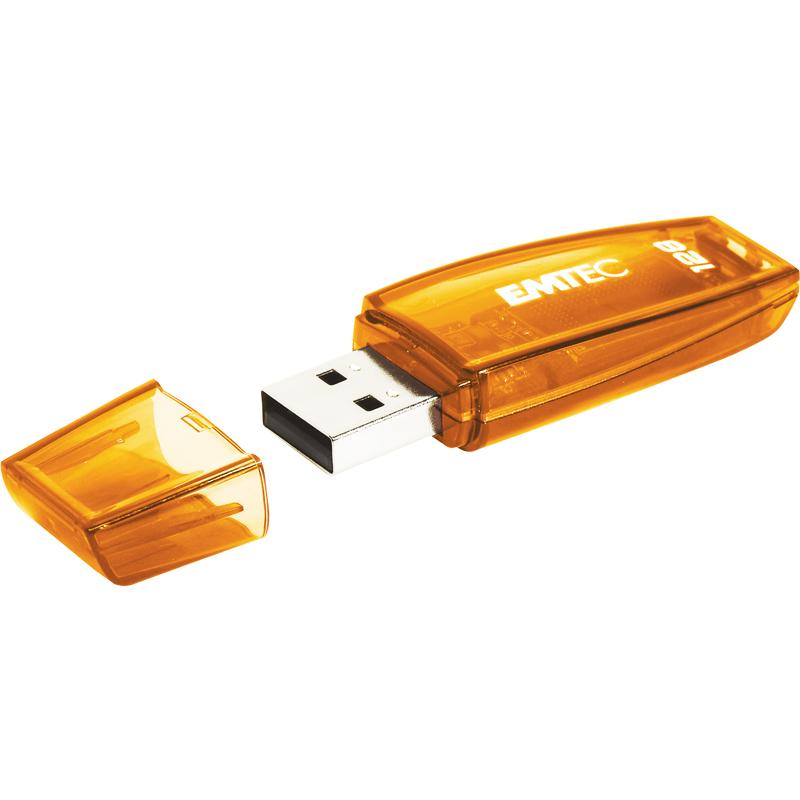 EMTEC C410 - 128 GB - USB Typ-A - 2.0 - Kappe - Orange
