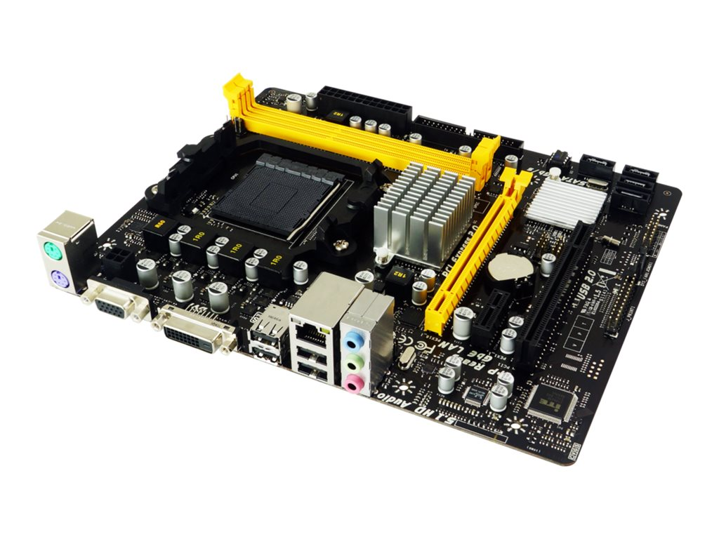 Biostar A960D+V3 - 6.X - Motherboard - micro ATX - Socket AM3+ - AMD 760G - Gigabit LAN - Onboard-Grafik - HD Audio (6-Kanal)