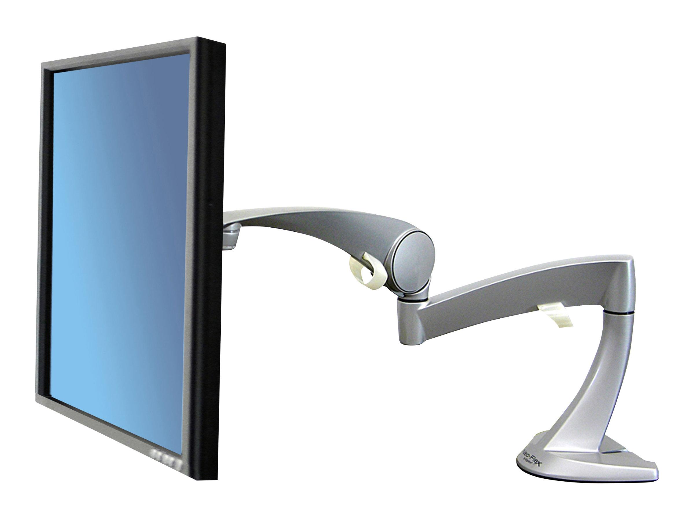 Ergotron Neo-Flex Monitor Arm - Befestigungskit (Gelenkarm, Spannbefestigung für Tisch, Verlängerungsarm, Tischplattenbohrung)