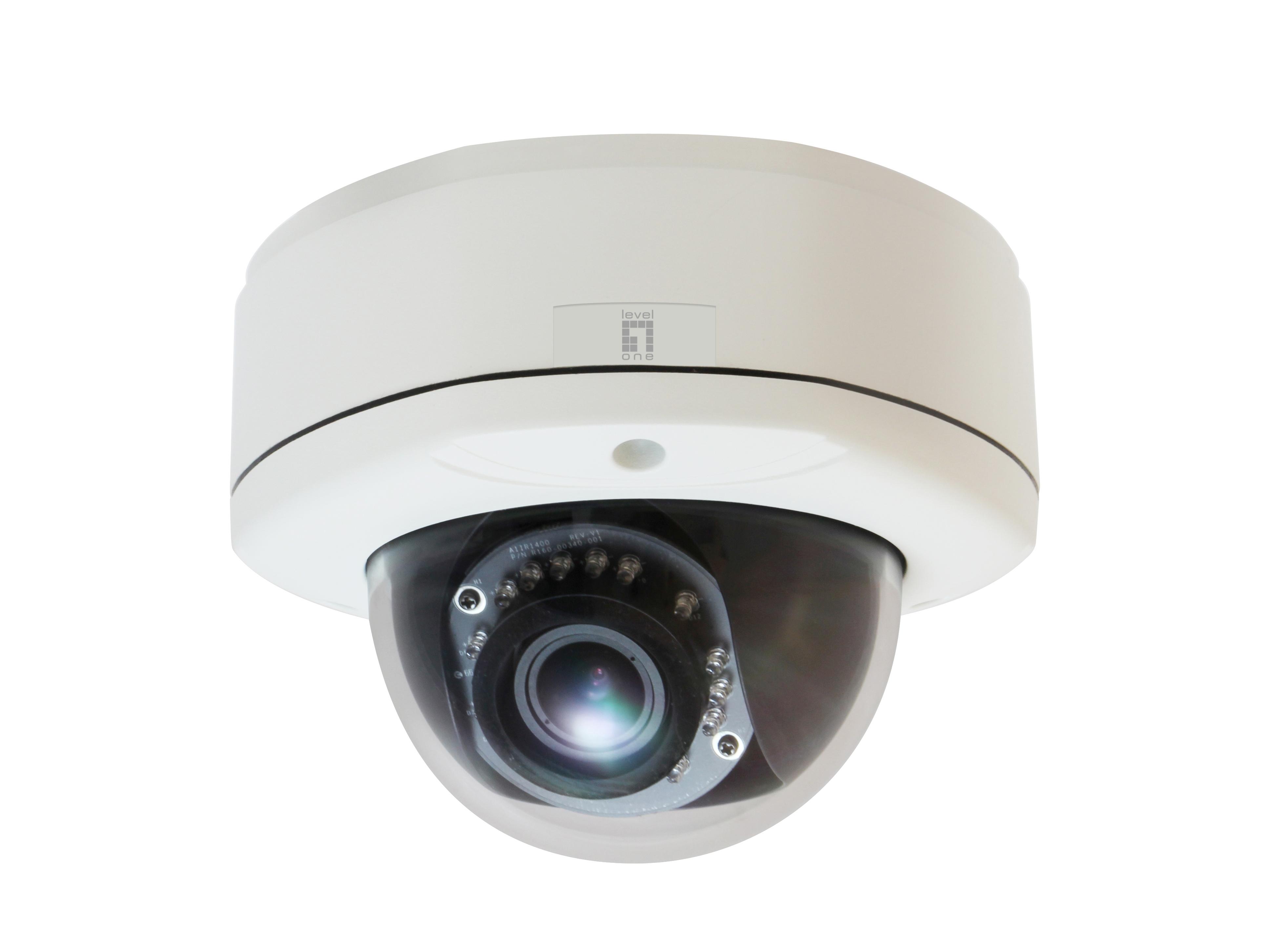LevelOne FCS-3055 IP security camera Outdoor Kuppel Schwarz - Weiß