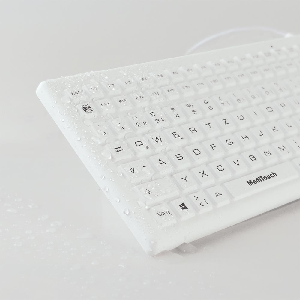 Baaske Meditouch BLT03 - Standard - USB - QWERTZ - Weiß