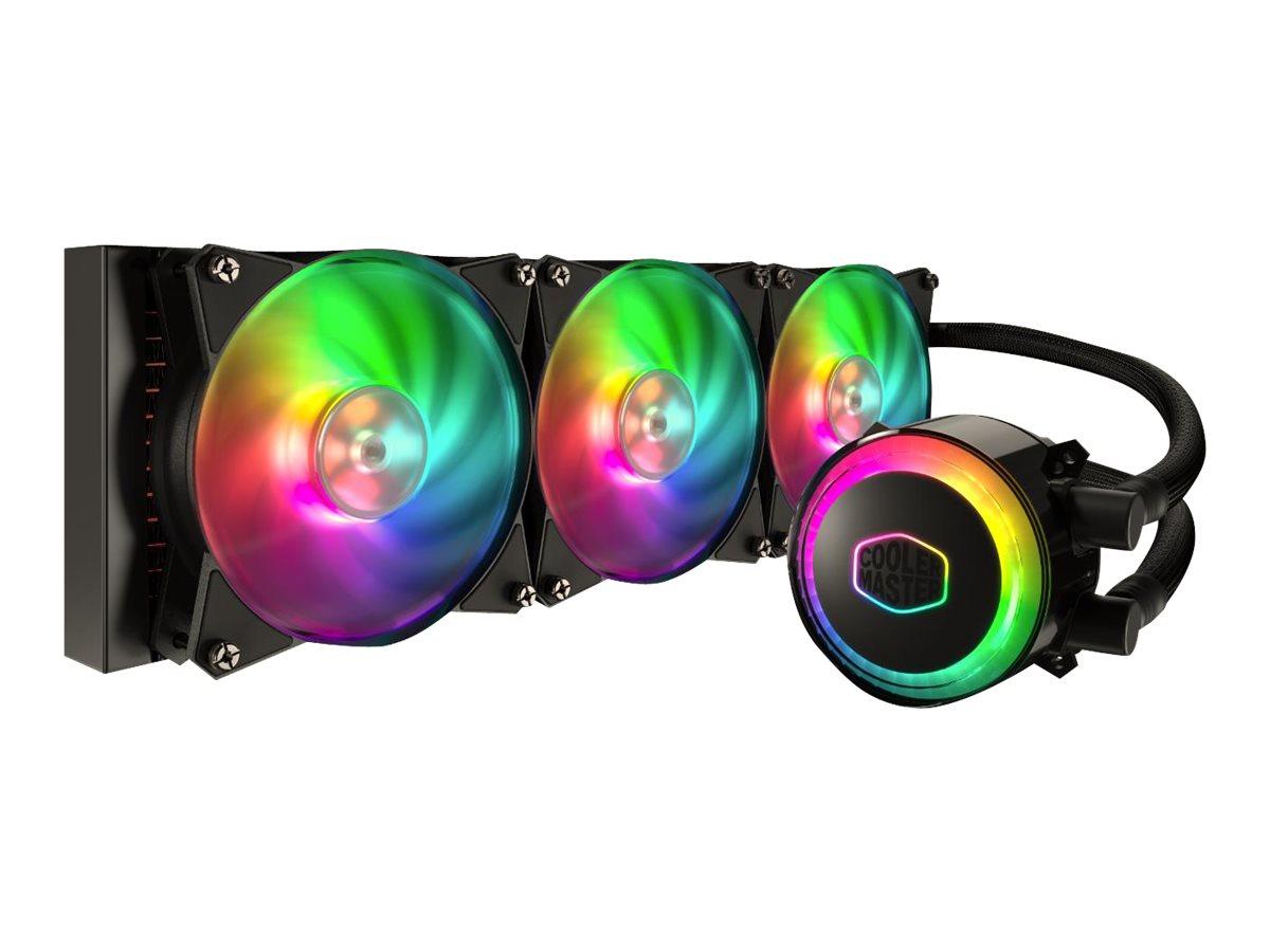 Cooler Master MasterLiquid ML360R RGB - Prozessor-Flüssigkeitskühlsystem - (für: LGA775, LGA1156, AM2, AM2+, LGA1366, AM3, LGA1155, AM3+, LGA2011, FM1, FM2, LGA1150, FM2+, LGA2011-3, LGA1151, AM4, LGA2066)