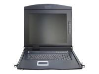 "Modulare Konsole mit 17"" TFT (43,2cm), 1 Port KVM & Touchpad, US Tastatur"