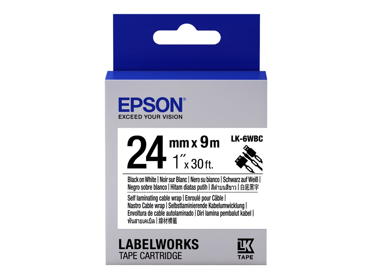 Epson LabelWorks LK-6WBC - Schwarz auf Weiß