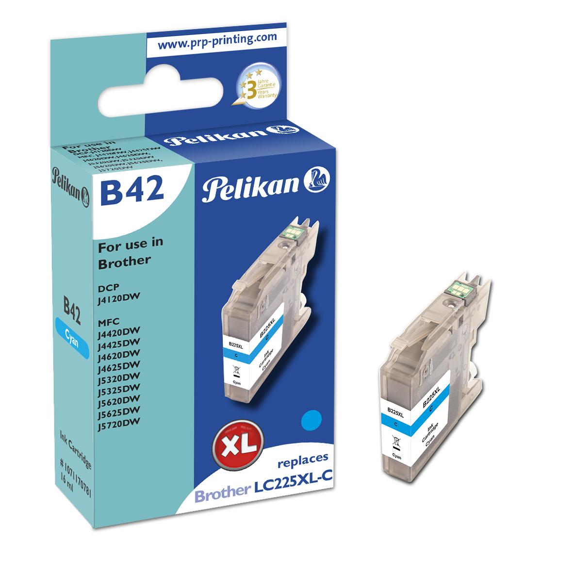 Pelikan B42 Cyan - Kompatibel - Cyan - Brother - Einzelpackung - 1 Stück(e) - 1200 Seiten