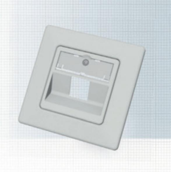 EasyLan Modulaufnahme SL 45° 1-fach 80x80 5er VPE