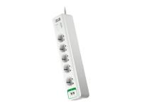 PM5T-GR Spannungsschutz 5 AC-Ausgänge 230 V 1,83 m Weiß