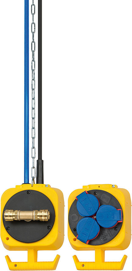 Vorschau: Brennenstuhl 1151160 - Schwarz - Blau - Gelb - Kunststoff - IP44 - 230 V - 16 A