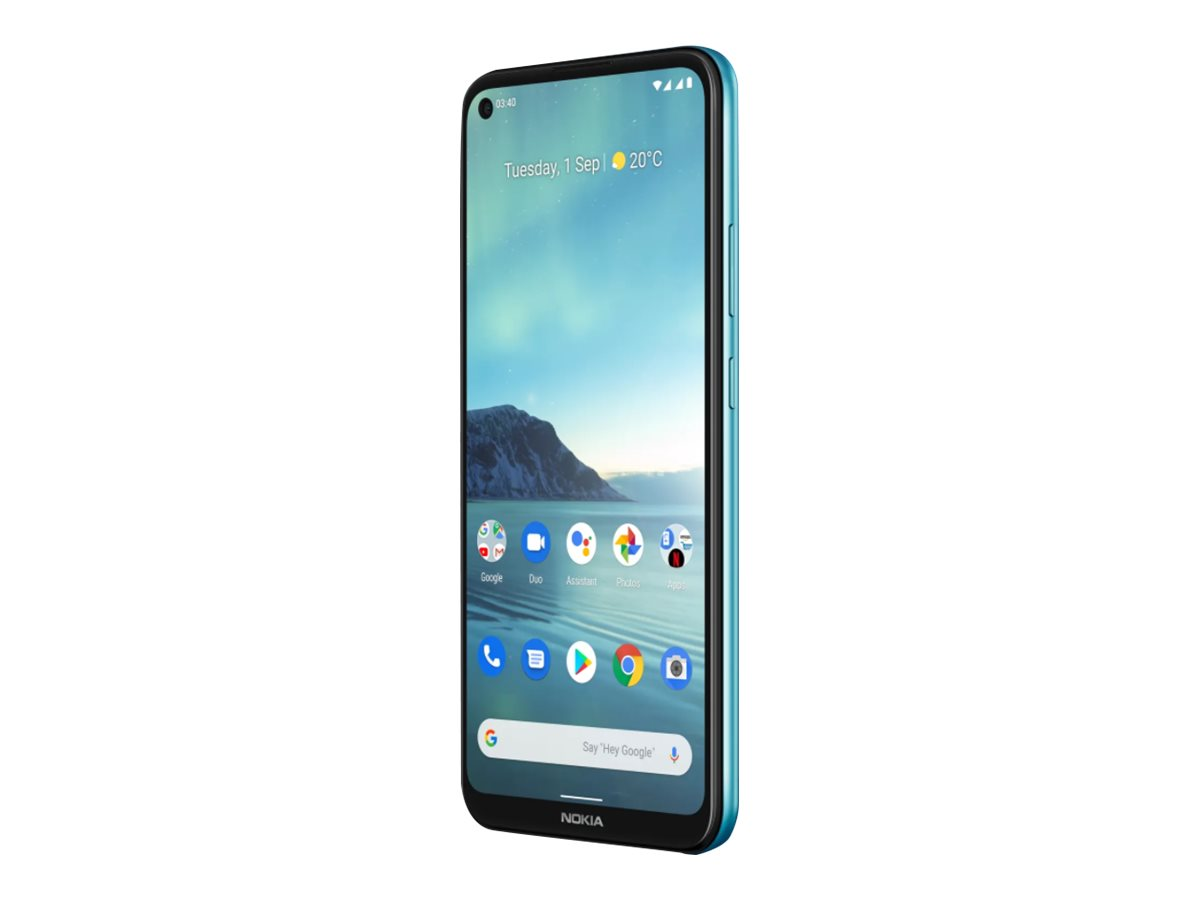"Nokia 3.4 - Android One - Smartphone - Dual-SIM - 4G LTE - 64 GB - microSD slot - 6.39"" - RAM 3 GB (8 MP Vorderkamera)"