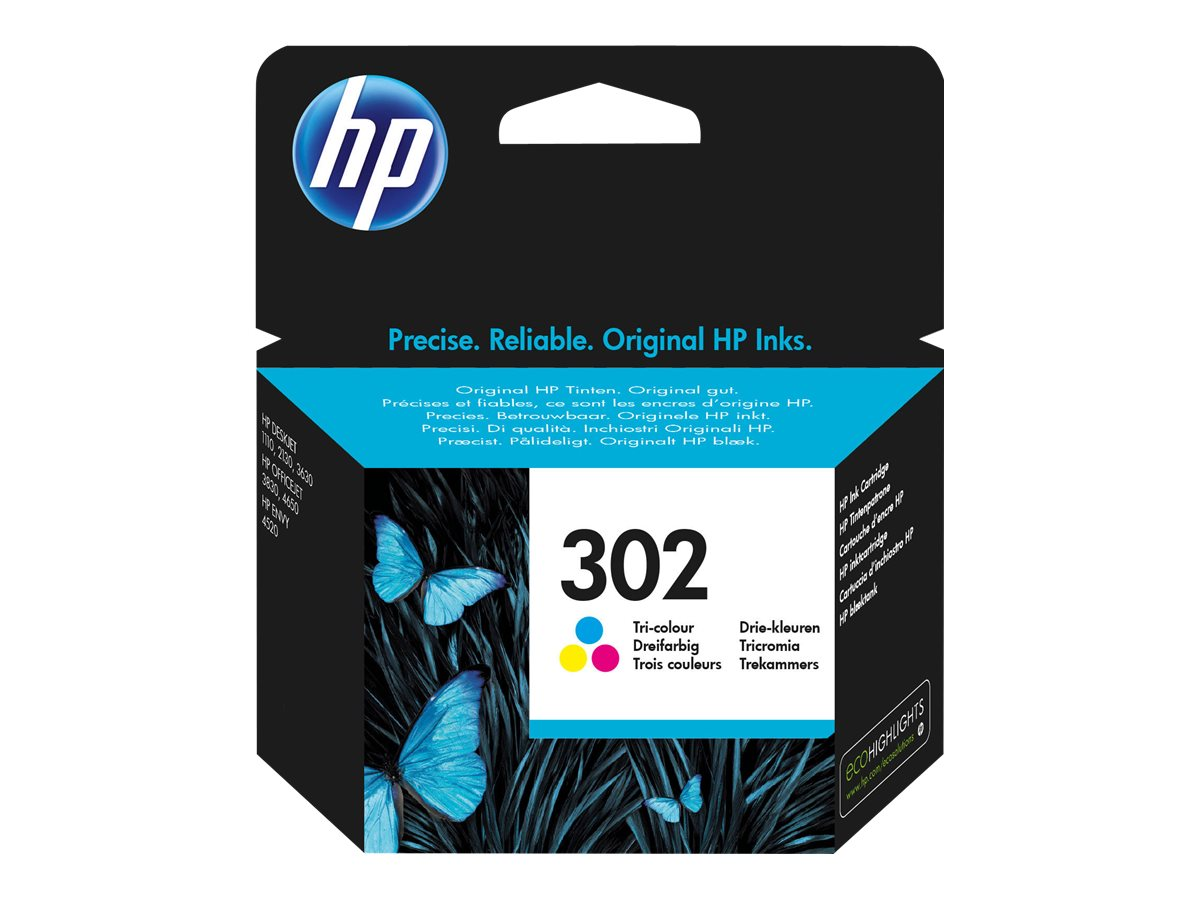 HP 302 - 4 ml - Farbe (Cyan, Magenta, Gelb) - Original
