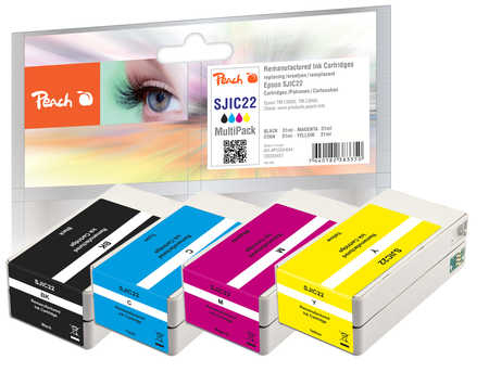 Peach PI200-644 - Compatible - Schwarz - Cyan - Magenta - Gelb - Epson - 4 Stück(e) - 31 ml - 31 ml