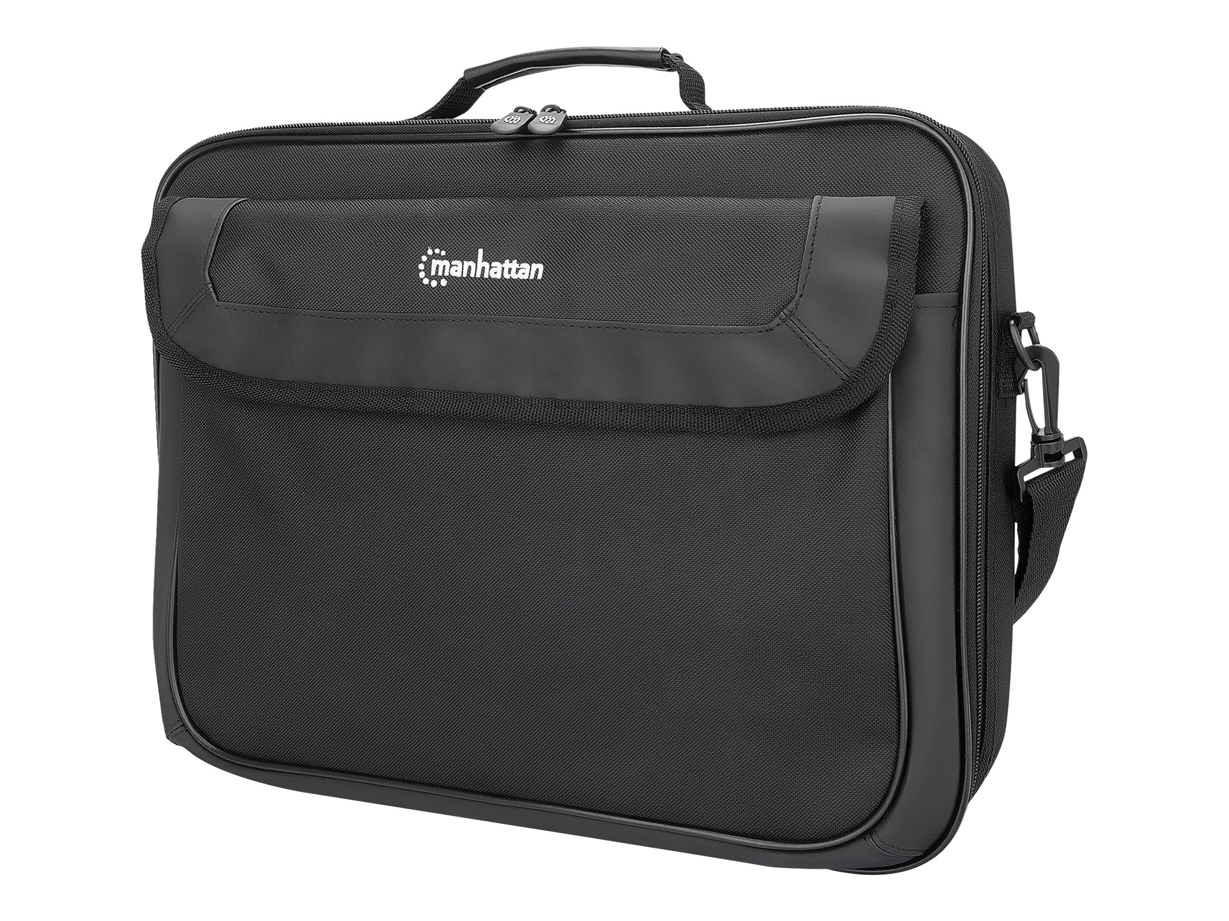 """IC Intracom Manhattan Cambridge Laptop Bag 15.6"""", Clamshell Design, Accessories Pocket, Document Compartment on Back, Shoulder Strap (removable)"""