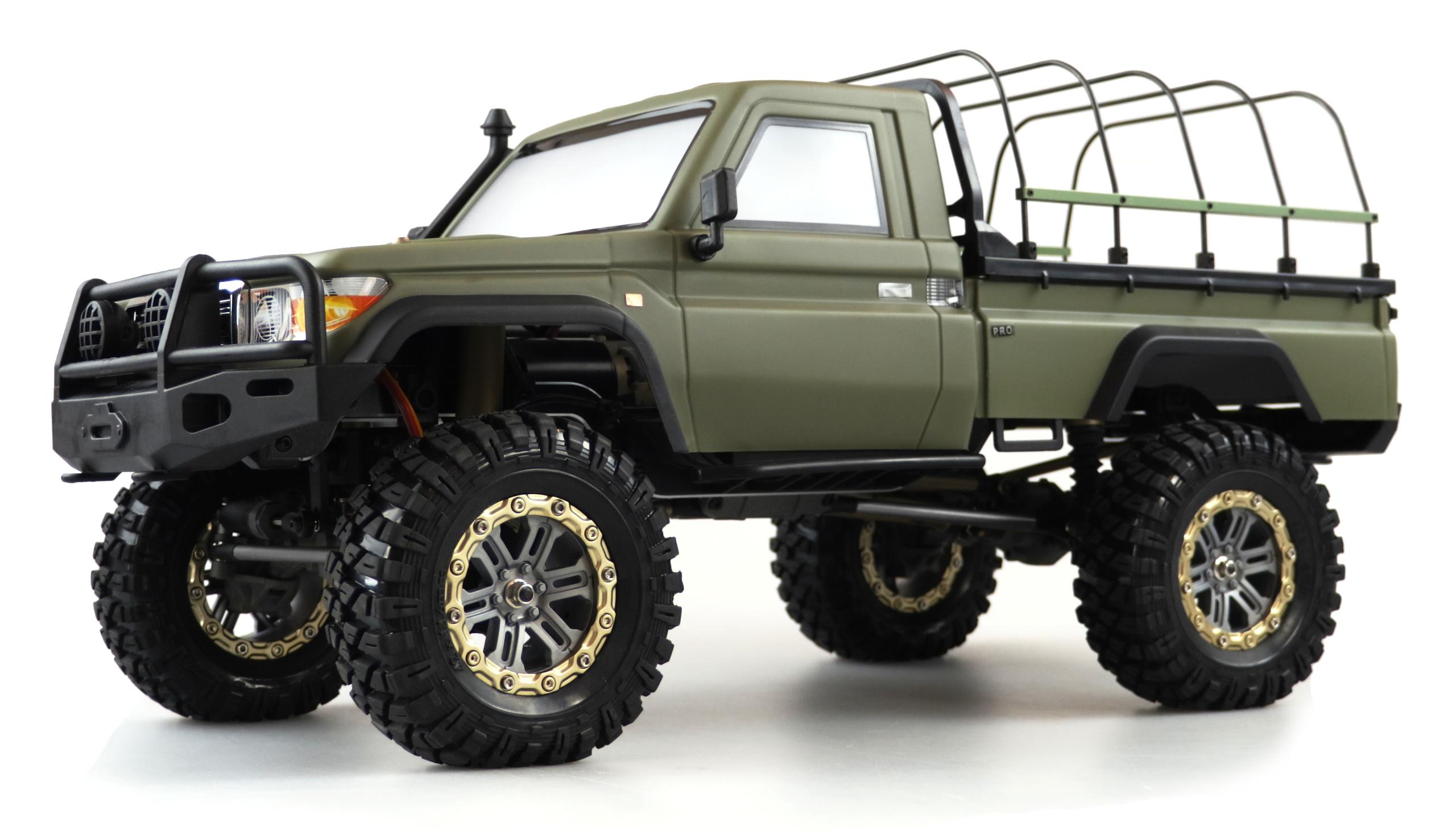 Amewi AMXROCK RCX10BS - Off-Road-Wagen - Elektromotor - 1:10 - Betriebsbereit (RTR) - Grün - Metall