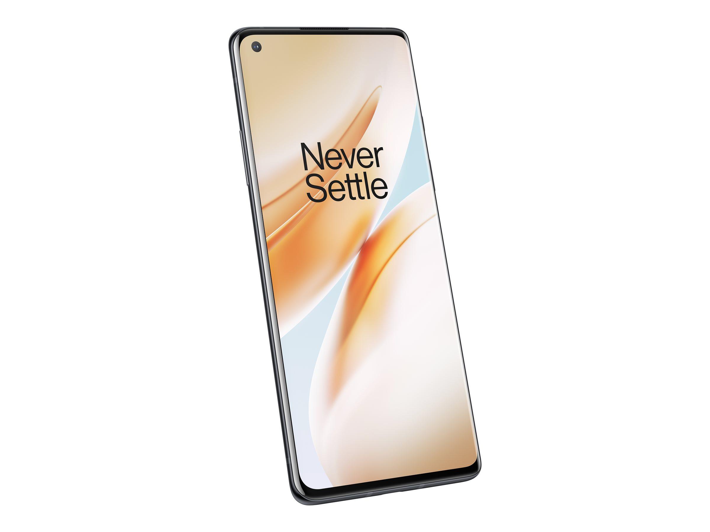 "OnePlus 8 - Smartphone - Dual-SIM - 5G NR - 128 GB - CDMA / GSM - 6.55"" - 2400 x 1080 Pixel (402 ppi (Pixel pro Zoll))"
