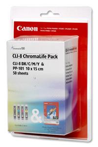 Canon Ink Tank CLI-8/ Paper GP-501 Kit Gelb Tintenpatrone