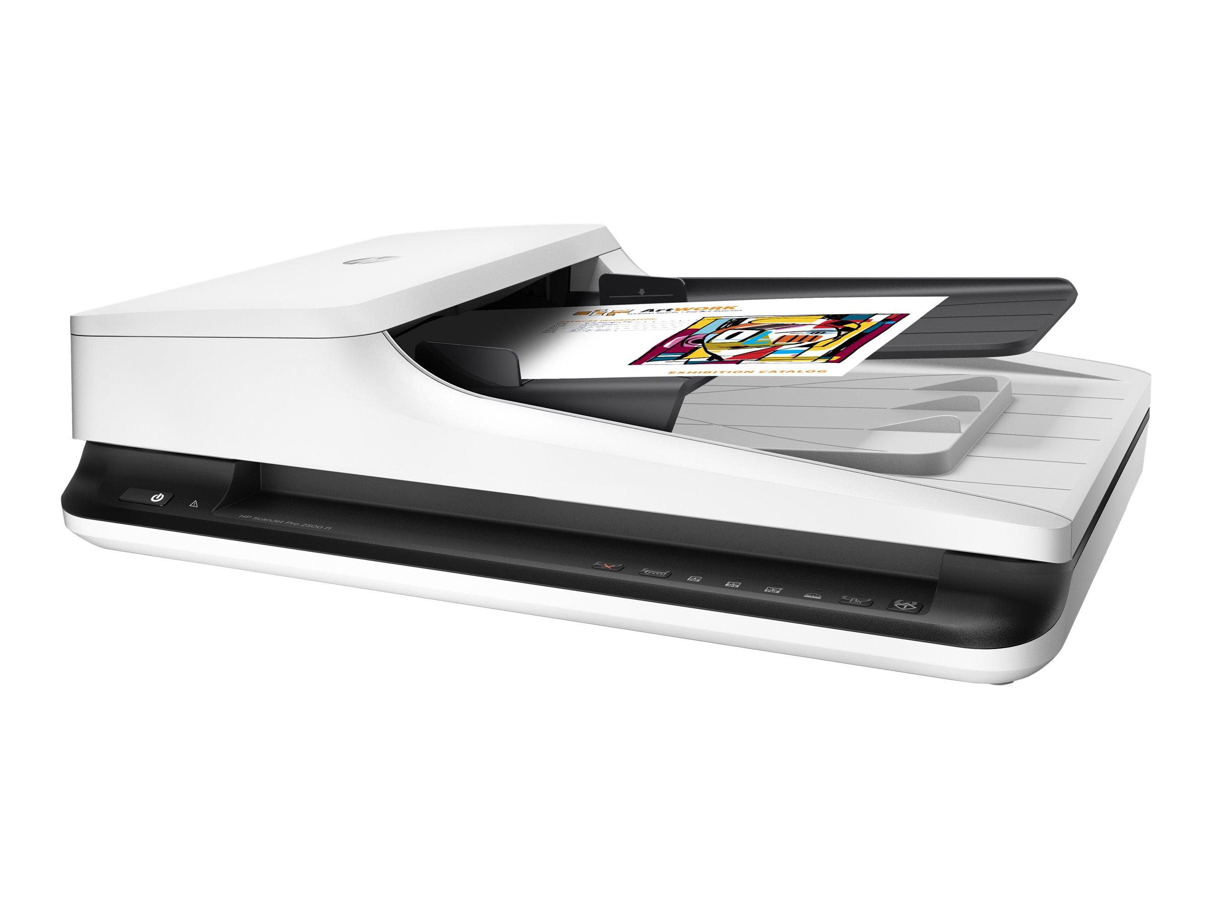 HP Scanjet Pro 2500 f1 - Dokumentenscanner - CMOS / CIS - Duplex - A4/Letter - 1200 dpi x 1200 dpi - bis zu 20 Seiten/Min. (einfarbig)