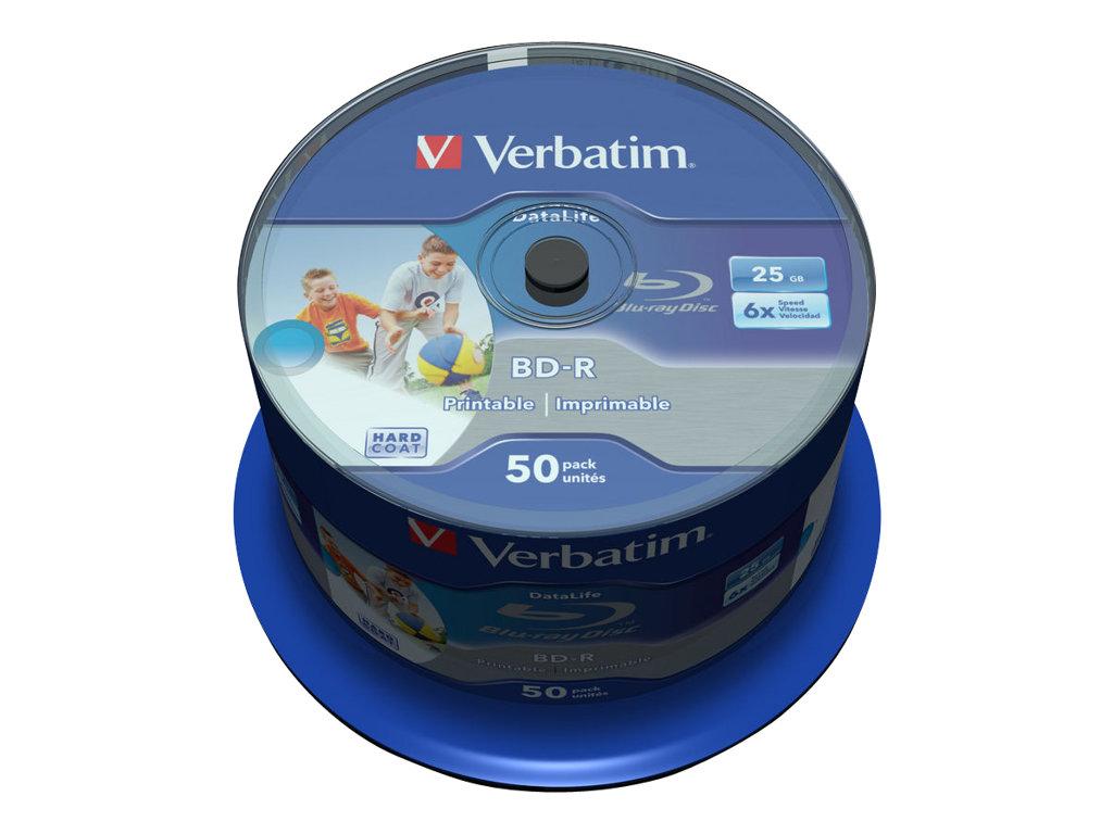 Verbatim DataLife - 50 x BD-R - 25 GB 6x - mit Tintenstrahldrucker bedruckbare Oberfläche