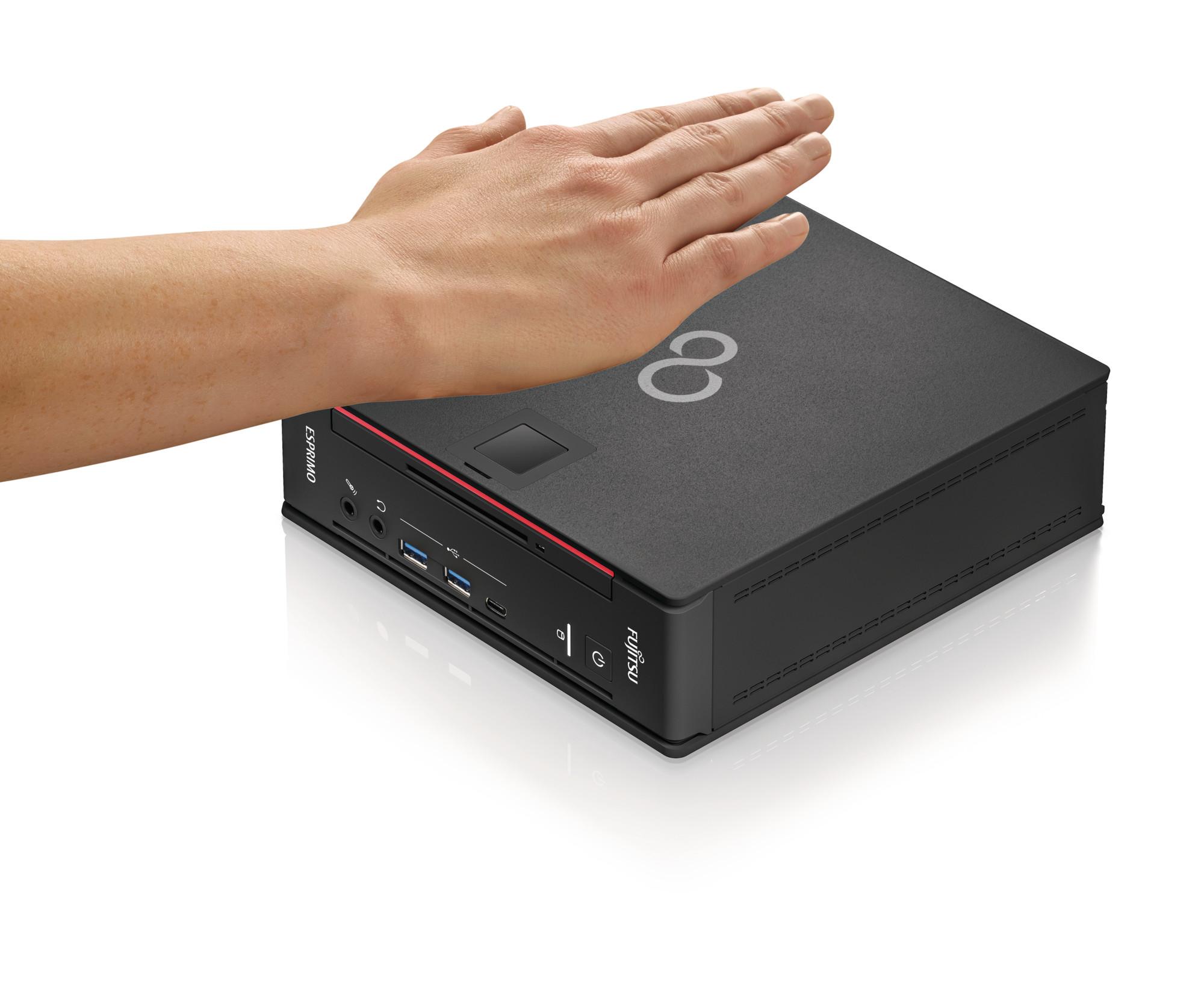 Fujitsu ESPRIMO Q958 - Mini-PC - Core i7 9700T / 2 GHz