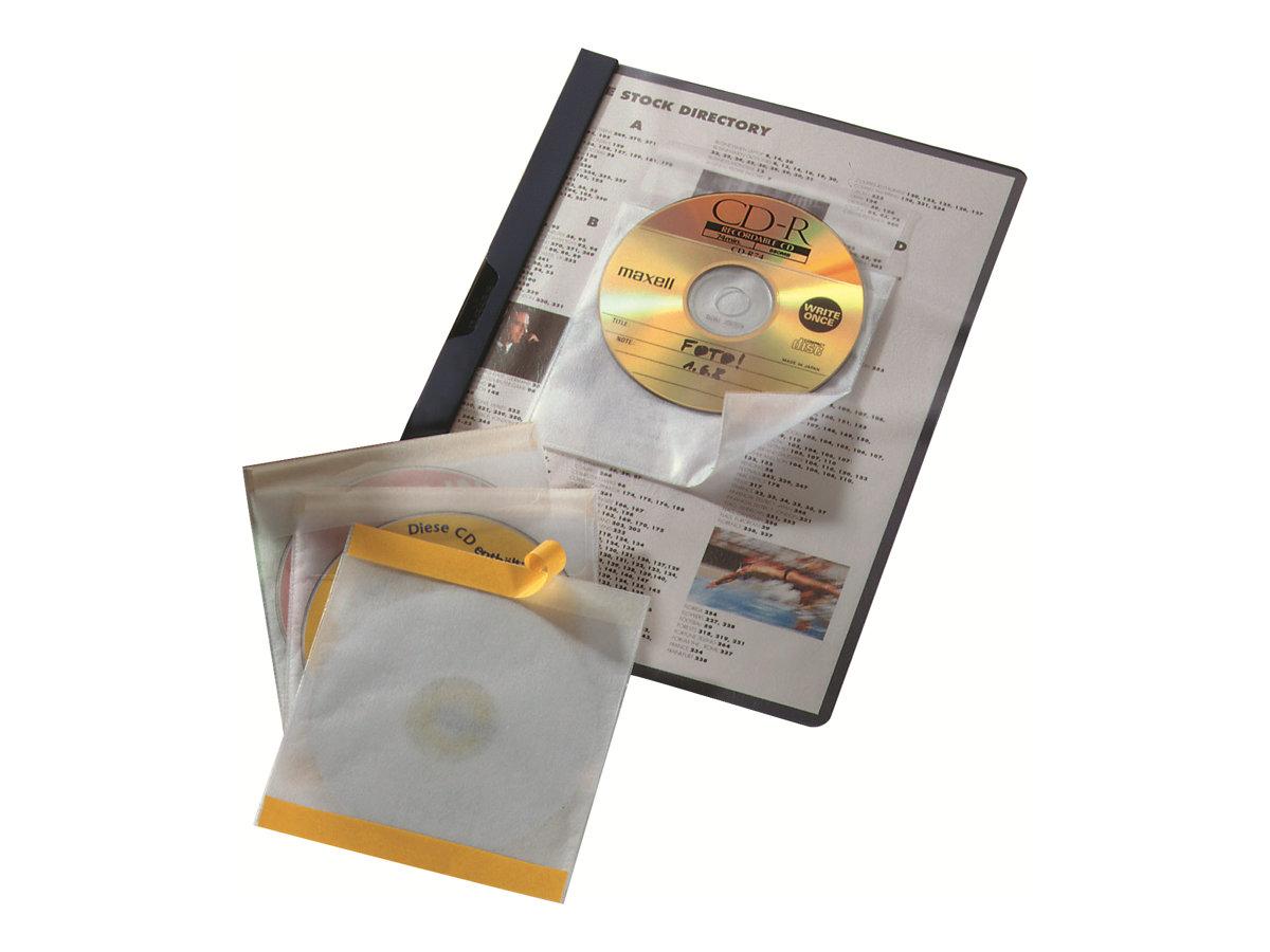Durable CD/DVD FIX - CD-/DVD-Hülle - Kapazität: 1 CD, 1 DVD - durchsichtig (Packung mit 10)