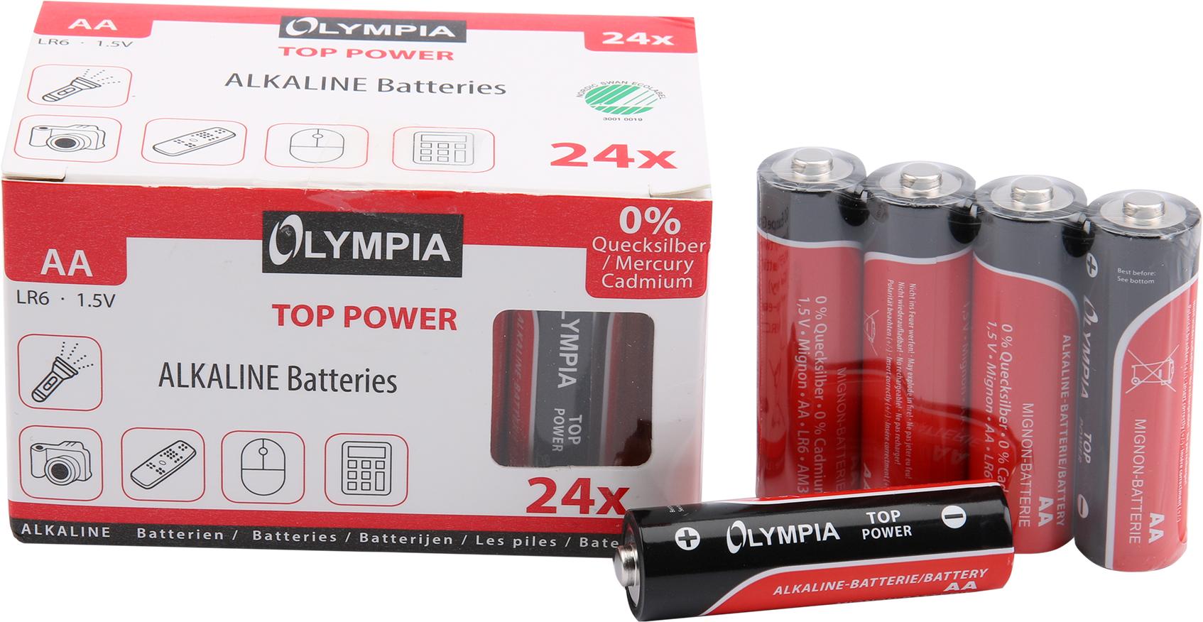 Olympia Alkaline Batterien AA 24er Pack - Batterie - Batterie