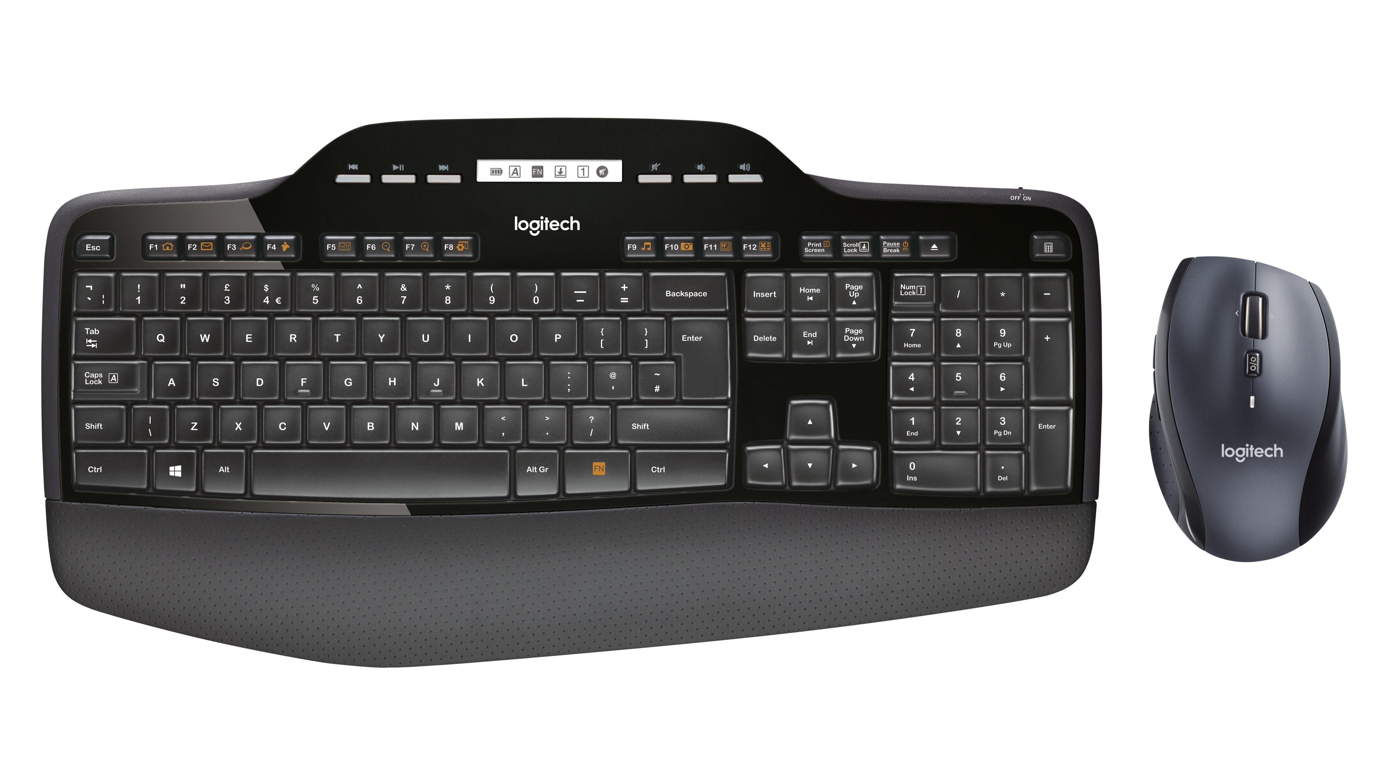 Logitech Wireless Desktop MK710 Tastatur og mus-sæt Trådløs International NSEA