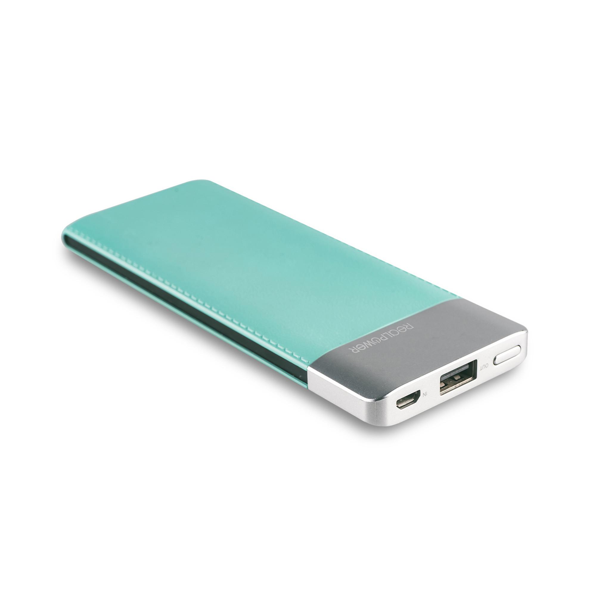 RealPower PB-5500 Fashion - Blau - Universal - Rechteck - Lithium Polymer (LiPo) - 5500 mAh - USB
