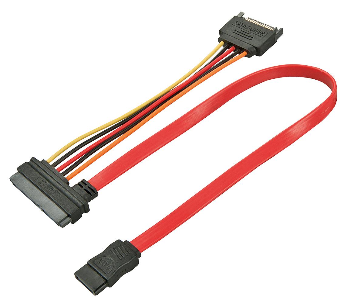 Lindy SATA-Kabel - interne SAS, 29-polig (SFF-8482) (W) - 7-poliges SATA, 15 PIN SATA Power