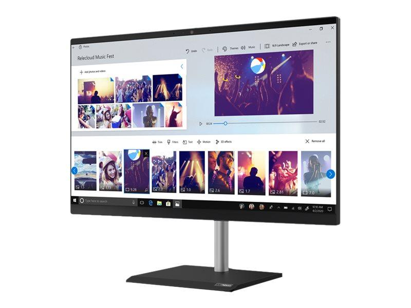 "Lenovo V50a-24IMB 11FJ - All-in-One (Komplettlösung) - mit voll funktionsfähigem Monitorständer - Core i5 10400T / 2 GHz - RAM 8 GB - SSD 256 GB - NVMe - DVD-Writer - UHD Graphics 630 - GigE - WLAN: 802.11a/b/g/n/ac, Bluetooth 5.0 - Win 10 Pro 64-Bit - Monitor: LED 60.45 cm (23.8"")"
