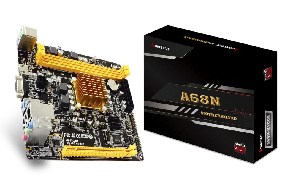 Biostar A68N-2100E - AMD - AMD E - DDR3-SDRAM,DDR3L-SDRAM - DIMM - 800,1066,1333 MHz - 16 GB
