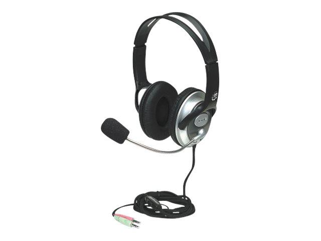 Manhattan Classic Stereoheadset, Flexibles Mikrofon und hohe Audioqualität