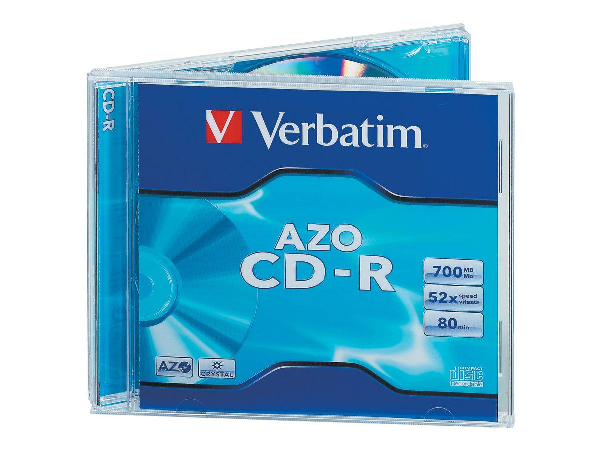 Verbatim AZO Crystal - 10 x CD-R - 700 MB 52x - Jewel Case (Schachtel)